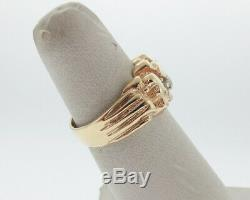 Genuine Diamonds Solid 14k Yellow Gold Men's Nugget Ring FREE Sizing