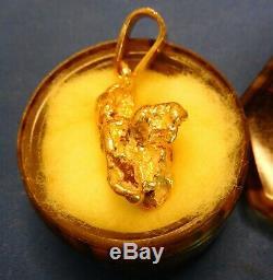 Genuine Large Natural Alaskan Gold River Nugget Pendant 19.5 grams