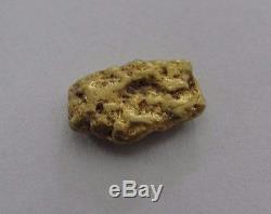 Genuine Natural 1.6 Gram Gold Nugget Specimen #H-17B