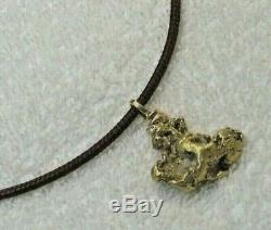 Genuine Natural Gold Nugget Pendant with Handmade Bail, 20.28 grams
