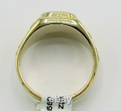Genuine Natural Gold in Quartz Men's 10K Gold Ring with Natural Nuggets RM774NQB