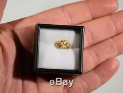 Gold Ingot 1.63 Gram Nugget Little Squaw Creek Alaskan Natural Free Case 22k