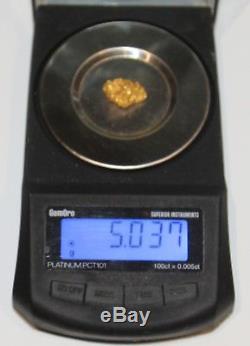 Gold Nugget 5.03 Grams (australian Natural)