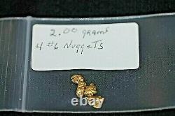 Gold Nuggets 2.00 Gram, Alaskan Natural Placer 4# 6, Hi Purity, Low Shipping