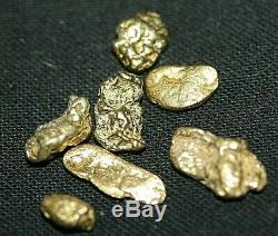 Gold Nuggets 5.00 Gram, Alaskan Natural Placer # 6, Hi Purity, Low Shipping