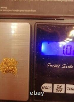 Gold Paydirt 1.1g ADDED NATURAL GOLD NUGGETS, high grade, ROI