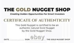 Huge, Large natural gold nugget from Australia. 202.07 Grams