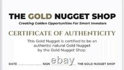 Large 10.5 gram natural gold nugget from Australia