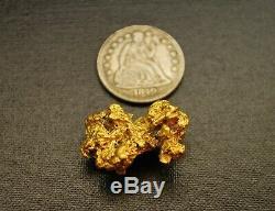 Large 7.80g Rare Gold Nugget Historic Elk Creek Montana Natural Hand Dug 7/8