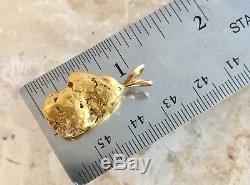Large Natural Alaskan Placer Gold River Nugget Pendant 13.80 grams