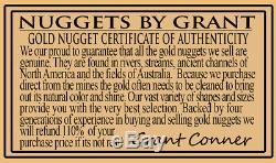 Large Natural Gold Nugget Australian 109.78 Grams 3.52 Troy Ounces Very Rare