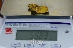 Large Natural Gold Nugget Australian 58.89 Grams 1.87 Troy Ounces Very Rare