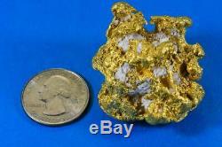 Large Natural Gold Nugget Australian with Quartz 145.55 Grams 4.68 Troy Ounces V