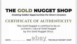 Large natural gold nugget from Australia. 70.51 Grams. With Shipping Insurance