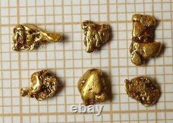 Lot de Pépites Or Alaska 22 Carats Set of Natural Alaskan Gold Nuggets 22K