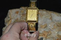 Man's (HEAVY NUGGET) Seiko 10kt/ Natural Nuggeted Gold/Diamond Watch