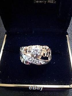 Men's or Women's Vintage 14K Gold Hand Made Nugget Ring 1/2 K DiamondFree Ship