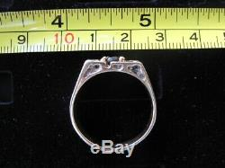 Mens Nugget Ring 14K Yellow Gold With Natural Oval Cut Dark Ruby 10 gram Size 12
