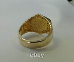 NEW Men's 14KT Yellow Gold 0.6 CT Diamond Hexagon Nugget Dress Ring, 12.1 grams