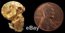 Natural Alaskan 14.4 Gram Gold Prospector Skull Nugget Specimen
