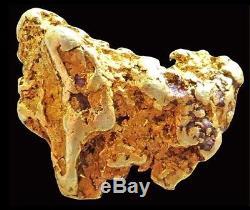 Natural Alaskan 5.7 Gram Gold Prospector Mineral Nugget Quartz Specimen