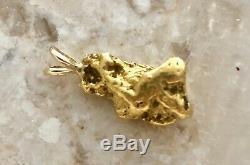 Natural Alaskan Placer Gold River Nugget Pendant 11.5 grams Beautiful Specimen