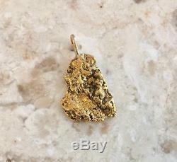 Natural Alaskan Placer Gold River Nugget Pendant 5.50 grams