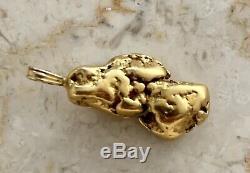 Natural Alaskan Placer Gold River Nugget Pendant 7.0 grams Beautiful Specimen