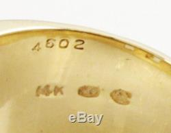 Natural Gold Nugget 1/2 Wide 14K Yellow Gold Band Ring Size 9 WHOLESALE