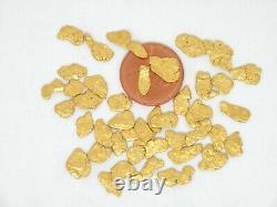 Natural Montana Gold nuggets placer Sauerkraut Creek Gold. Flat, mixed size