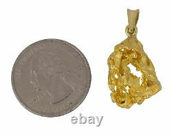 Natural Pure Solid Free-Form Gold Nugget Charm Pendant 7.4gr