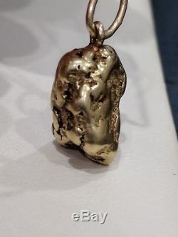 Natural Solid Gold Nugget Pendant 18-22K 7.4 Grams Fantastic Shape