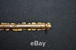 Natural alaska gold nugget Lapel pin 46mm x 5mm 5001#3