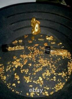 Natural gold nugget PENDANT, natural California gold nuggets spell, I LOVE U