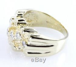Nugget Designer Style Diamond Ring 14K Yellow Gold Size 5 WHOLESALE