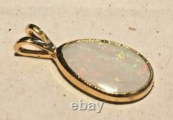 Opal Nugget Pendant Solid White Opal Clad in Hard 22ct Gold 19 x 9 mm 2.7ct