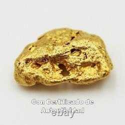 Pepita De Oro Natural 1.688 G España Con Certificado de Autenticidad Gold Nugget