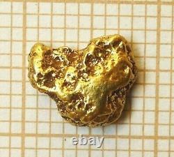Pépite Or Naturel Alaska 22 Carats Natural Alaskan Gold Nugget 22K