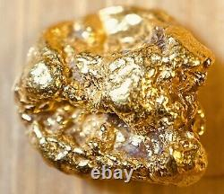 Quality Alaskan Natural Placer Gold Nugget. 891 grams Free Shipping! #A1167