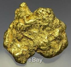 Quality Alaskan Natural Placer Gold Nugget. 987 grams Free Shipping! #A414