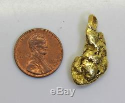STUNNING! 11.1 Gram 22K-24K Natural Alaskan Gold Nugget Pendant