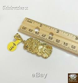 Solid 10k Yellow Gold Nugget Charm Pendent Men Women Real 10k Gold