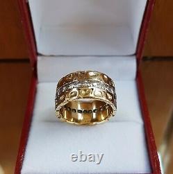Stunning VERY HEAVY 18ct gold 1.50ct diamond eternity nugget ring 13.35g