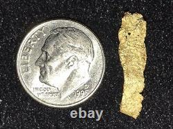 Unique 1.0 Gram Natural Gold Nugget Bullion Humboldt County, Nevada
