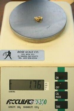 Unique 14K Yellow Gold Nugget & 3-Diamond Pendant, 5/8 X 3/8 ESTATE 1.7 grams