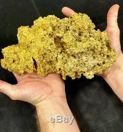 Very Rare Large Natural Gold Nugget Australian 3,679.2 Grams 118.30 Troy Ounces