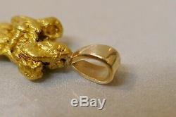 Vintage 20/22 kt. Natural Alaskan Gold Nugget Pendant