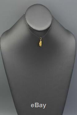 Vintage 24K Natural Yellow Gold Nugget Charm Pendant 2.6 Grams
