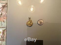 Vintage Alaskan Natural Gold Nugget Pendant 8 Grams