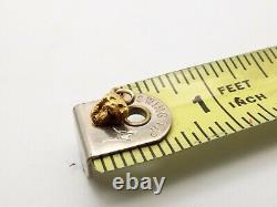 Vtg 22k Gold Nugget Pendant Raw Alaskan Solid 5 Carat Estate Natural Placer